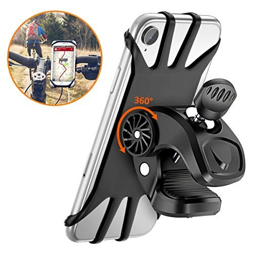 - Bike Phone Mount, STOON 360° Rotatable Bicycle Phone Holder with Adjustable Handlebar Mount, Silicone Universal Motorcycle Phone Mount Fits iPhone XR/XS Max/X, 8/8 Plus, Galaxy S10 Plus/S10/S10e