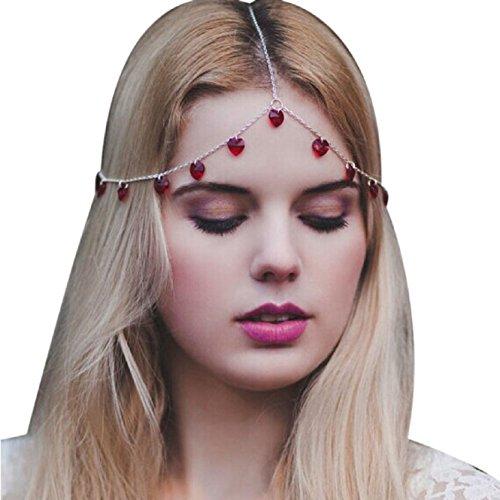 Coromose Women Head Jewelry Gyve Headband Hair Band Headpiece Love Tassels