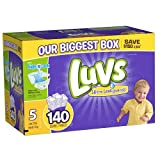 Health & Personal Care : luvs diapers size 5, 140 count