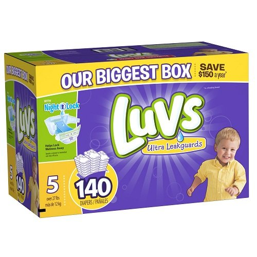 : luvs diapers size 5, 140 count