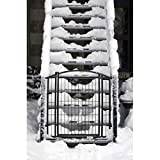 Carlson Pet Products 460 Outdoor Walk-Thru Gate with Small Pet Door, 33.25 by 29-43, Black