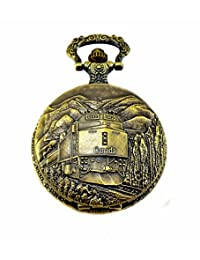 Canada Watches 150 Birthday Regulation Railway Pocket Watch 4 of Novelty Anniversary Collection With Japanese Quartz Movement, Licence C-12242