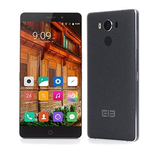 [Official Store] Elephone P9000 Handy - 5.5-Zoll Helio P10 2.0GHz 4GB 32GB Wireless-Lade, Schnellladung, Type C, Fingerabdruck, Schwarz