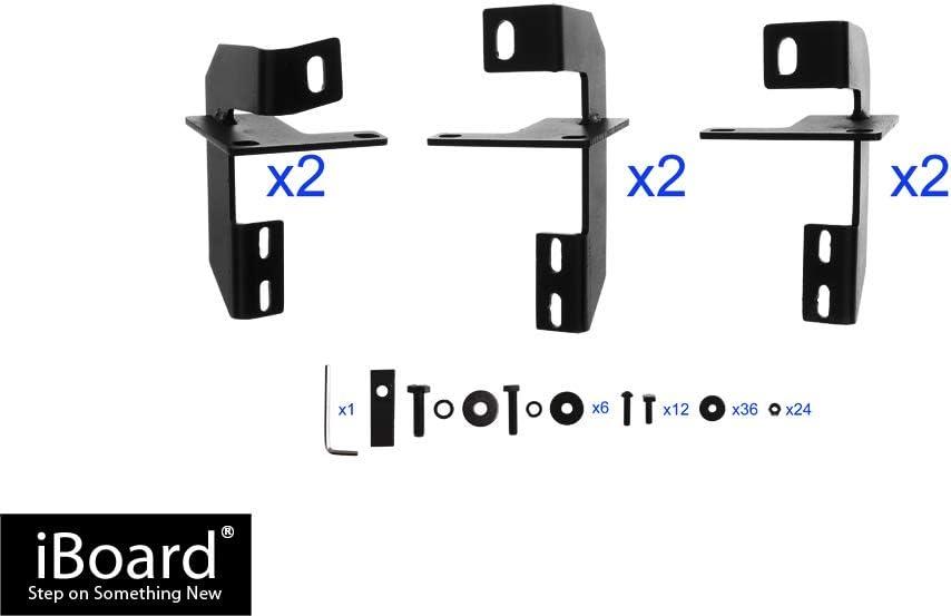 Nerf Bars Side Steps Side Bars APS iBoard Running Boards 5 inches Matte Black Custom Fit 2007-2018 Jeep Wrangler JK
