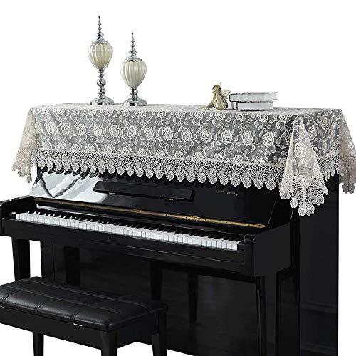 Mountain head レースのピアノカバー牧歌的なピアノダストカバータオル刺繍生地シンプルなピアノハーフカバー Mountain head   B07QPJLF9P