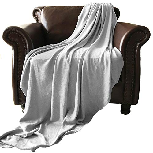 GOHD Golden Ocean Home Decor Super Cozy 100 Percent Bamboo Fiber Blanket. Ultra Softness and smothness Like Silk. Drop Well with Heavy Weight for Anyone You Love (Twin, Silver Grey) (Silk Blanket Throw)
