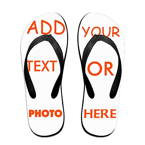 - XXI0c2sd2s Unisex Customized Summer Flat Flip Flops Footbed Sandals Slipper Shoes Beach Personalized (Black - L)