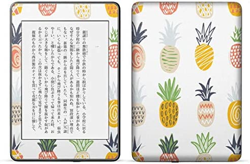 igsticker kindle paperwhite 第4世代 専用スキンシール キンドル ペーパーホワイト タブレット 電子書籍 裏表2枚セット カバー 保護 フィルム ステッカー 016125 パイナップル 果実