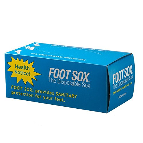 Foot Sox Original Sanitary Disposable Try on Socks (Womens Black)