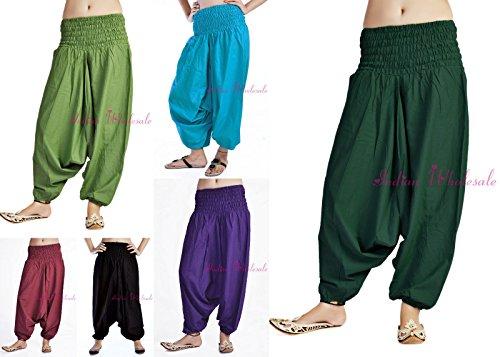 handicraftofpinkcity-lot-of-5-pcs-indian-hippie-yoga-trouser-soft-comfortable-alibaba-pants-women-in