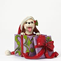 Jim Shore for Enesco Heartwood Creek Mini Christmas Dog in Box Figurine 2.75