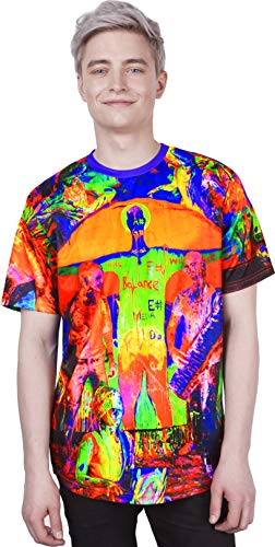 Neon Future Abstract Pattern Hot Gravity Jamaica Music Peace Love Letters Tshirt