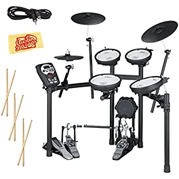 Roland TD-11KV Electronic Drum Set Bundle with 3 Pairs of Sticks, Audio Cable, and Austin Bazaar Polishing Cloth