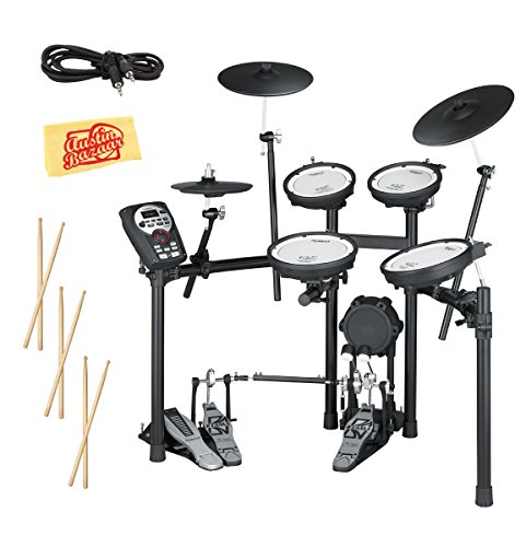 Roland TD-11KV Electronic Drum Set Bundle with 3 Pairs of Sticks, Audio Cable, and Austin Bazaar Polishing Cloth -