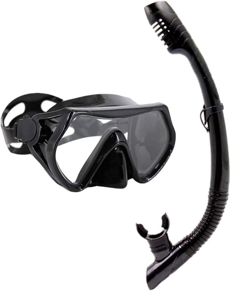 NBNBN Gafas de Snorkel Anti-Salida del Tubo respirador de laringoscopio máscara del Salto Kit de Vidrio Templado Anti-Niebla for Adultos y Adolescentes Equipo de Snorkel Profesional