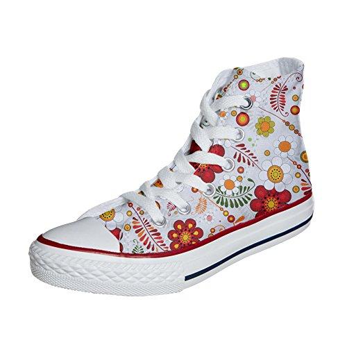 Converse All Star zapatos personalizados (Producto Artesano) Floral Paisley