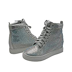 Sequined Ankle High Bootie