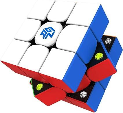 Amazon.com: GAN 356 M, 3x3 Magnetic Speed Cube Stickerless Gans 356M Magic  Cube (Lite ver. 2020): Toys & Games