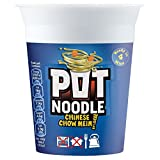 Pot Noodle Chinese Chow Mein Flavour - 90g - Pack of 4 (90g x 4)