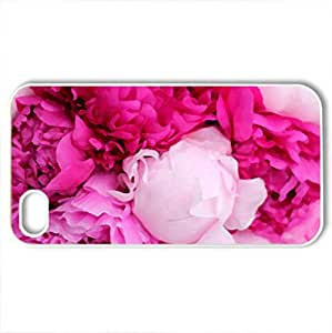 Peony - Case Cover for iPhone 4 and 4s (Flowers Series, Watercolor style, White)