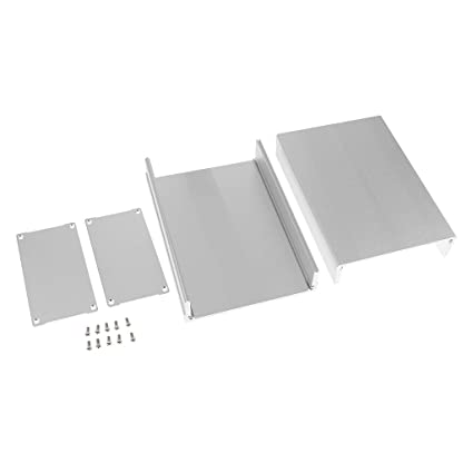 Aluminum Enclosure PCB Cooler Flat Box Case DIY for Projector 105x55x150mm