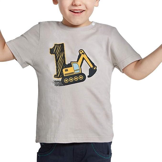 AMZTM 1º Cumpleaños Camión de Construcción Party Camiseta 1 ...