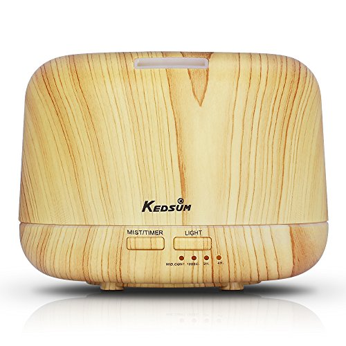 Best Price! KEDSUM 300ml Wood Grain Aromatherapy Essential Oil Diffuser Ultrasonic Cool Mist Aroma H...