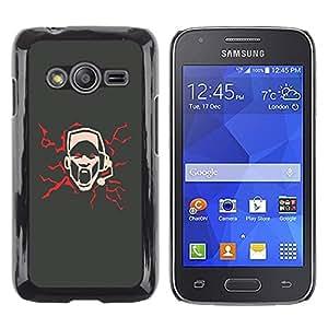 TopCaseStore / la caja del caucho duro de la cubierta de protección de la piel - Cool Abstract Art Sing Scream Microphone - Samsung Galaxy Ace 4 G313 SM-G313F