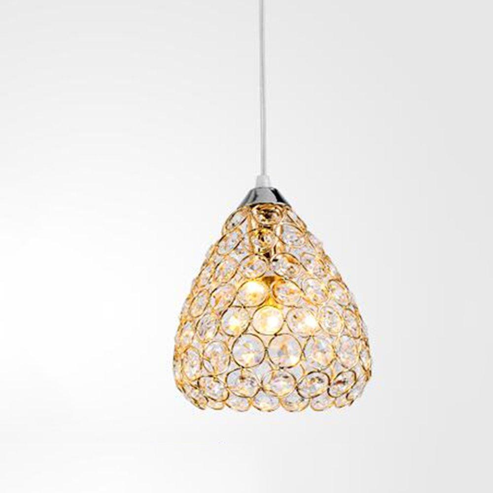 Jia He Kronleuchter Kristall-Kronleuchter, Pendelleuchte Kronleuchter Lampen Chrome Feature für LED Kristall Wohnzimmer Esszimmer Küche Kinderzimmer Flur (Farbe   2 -C)