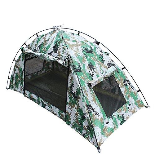 GDSZ Camping Tent Lightweight Waterproof Portable Folding Camouflage Tent Fiberglass Oxford Hiking 1 Person Tent Beach Fishing Hunting