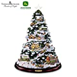 Thomas Kinkade Tabletop Christmas Tree: John Deere Winter Wonderland by The Bradford Exchange