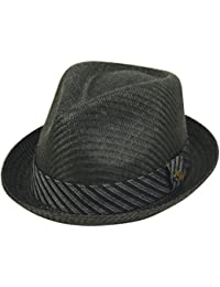 97a959010457c7 Mens Summer Fedora Cuban Style Upturn Short Brim Hat