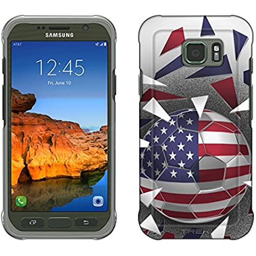 Samsung Galaxy S7 Active Case, Snap On Cover by Trek Soccer Balls USA Flag Slim Case Sales