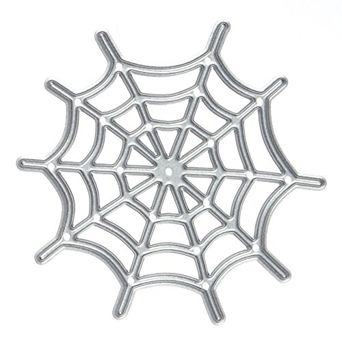 Moca Halloween Spider Web Metal Cutting Dies Stencil Template for DIY Scrapbook Album Paper Card Craft Decoration -