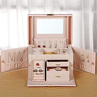 Lisansang Caja de joyería para Mujer Caso Recorrido de la Caja ...