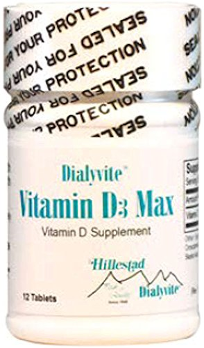 Dialyvite - Vitamin D3 Max - 50,000 IU - 12 Tablets