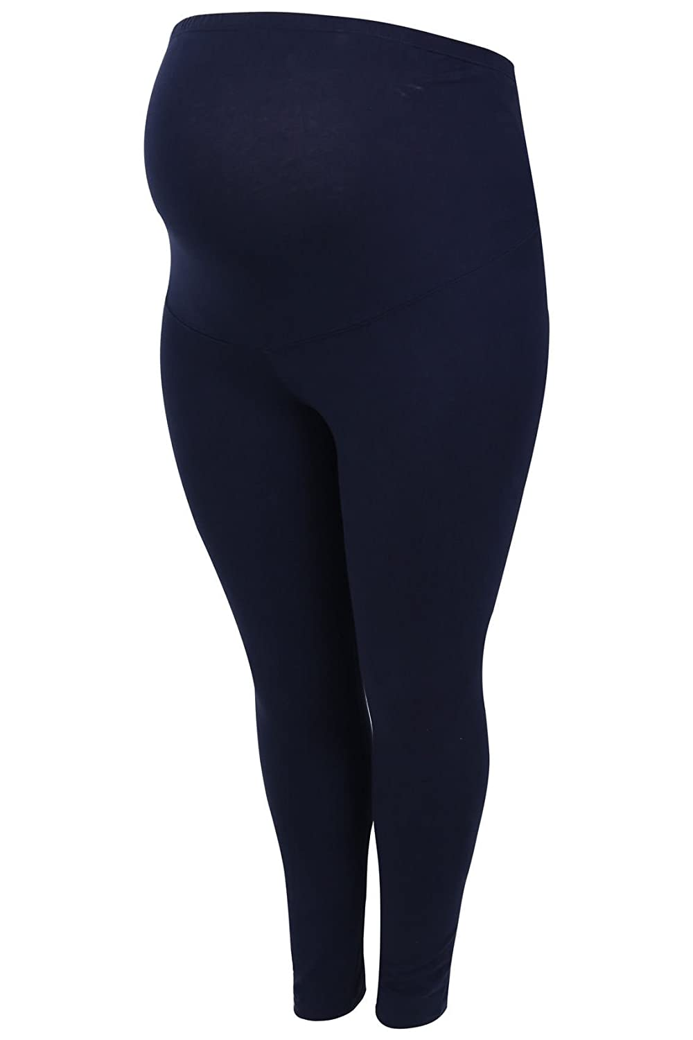 Women's Plus Size Bump It up Maternity Cotton Essential Leggings with Comfort Pa