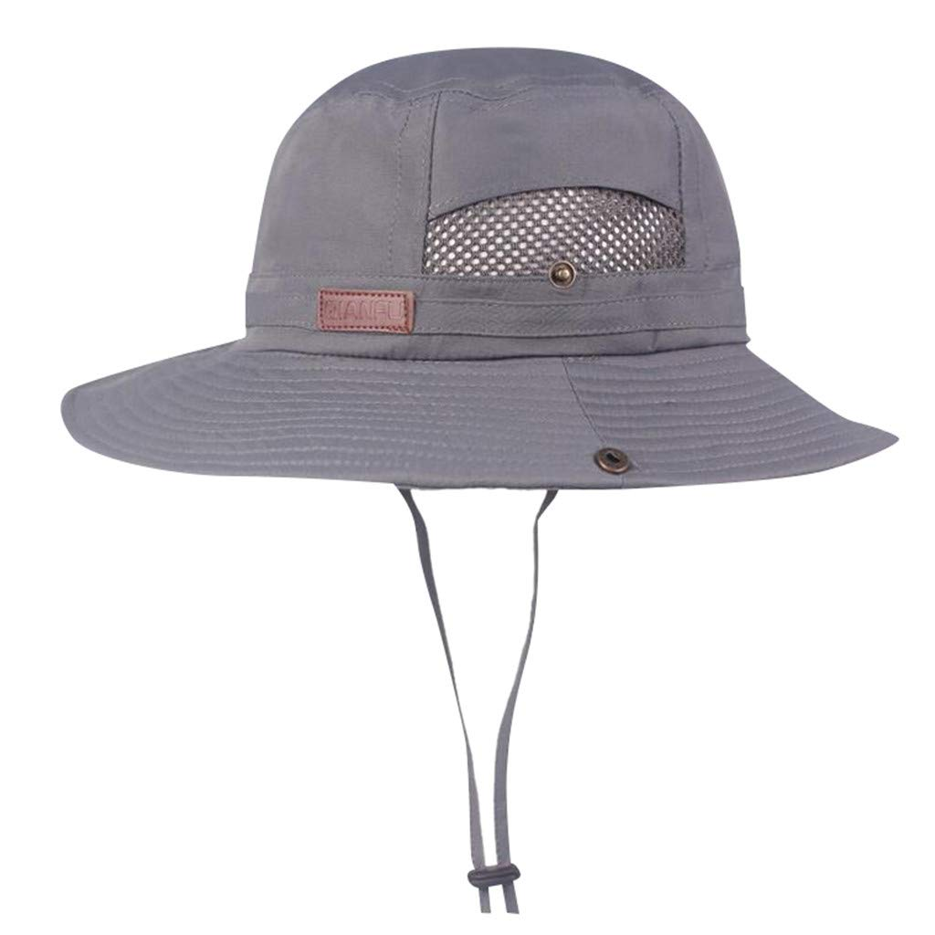 7f043a8058753 Yucode Windproof Fishing Hats Wide Brim Sun Protection Hat Outdoor Mesh  Fishing Cap Beige at Amazon Women s Clothing store