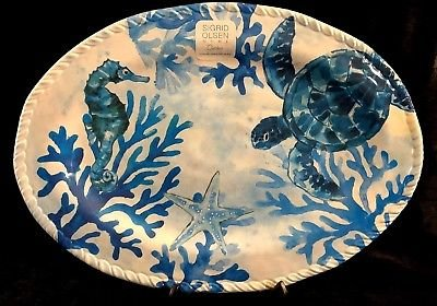 Sigrid Olsen Indoor/Outdoor 100% Melamine Dishwasher Safe Oval Serving Platter 18