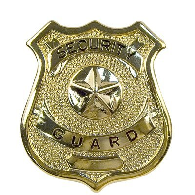 BADGE - SECURITY GUARD / - Security Gold Badge