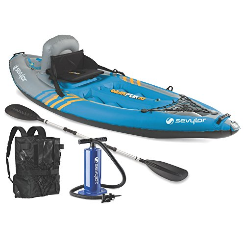 Sevylor Quikpak K1 1-Person Kayak 2 Person Travel Kayak