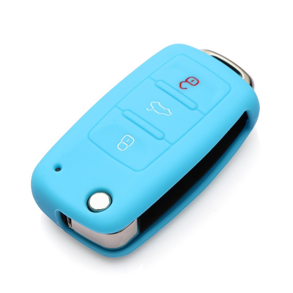 9 Moon® Silicone Remote Flip Key FOB Silicone Case Cover For VW Volkswagen New by 9 MOON (Image #3)