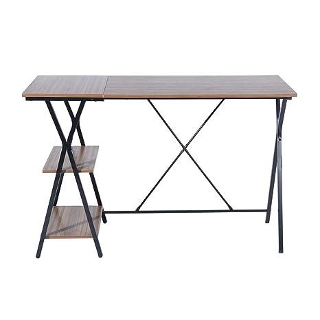 Amazon.com: HOMY CASA - Mesa de escritorio con cajones ...