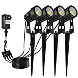ECOWHO Landscape Lighting, 12V LED Landscape Lights Plug in Low Voltage Lighting Waterproof Outdoor Spotlights for Path Flood Yard Garden