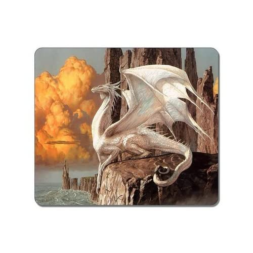 (Precision lock edge mouse pad) Brain Personalized Top-Quality Textured Surface Water Resistent Mousepad Pearly White Dragon Customized Non-Slip Gaming Mouse Pads made by Yanteng