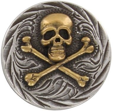 Skull And Bones Concho (screw back) ()