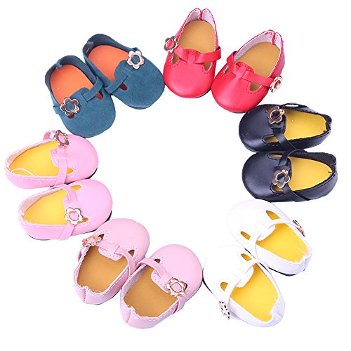 MAPA 5 Pairs Doll Shoes Include Shoes Fits 18 Inch American