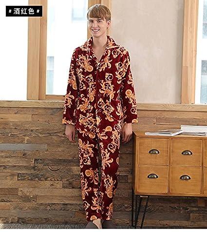 c3b1597695d3 Amazon.com  MH-RITA New Long Sleeved Corashan Lovers Pajamas Winter ...