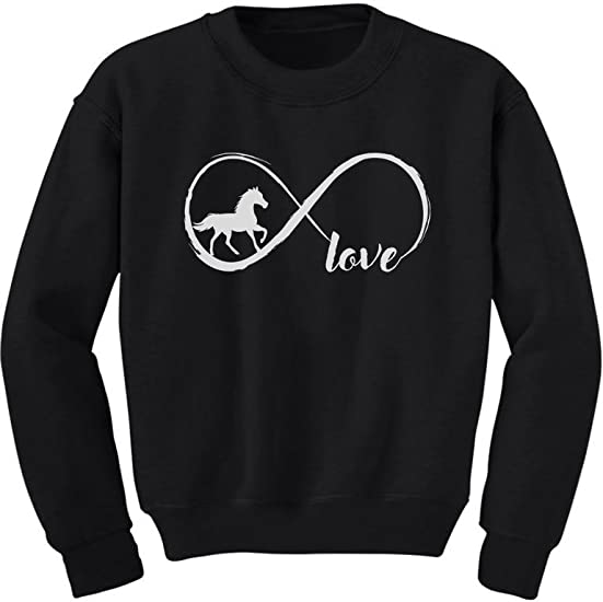 Gift For Horse Lovers Infinite Love Toddler Kids T-Shirt Infinity Symbol