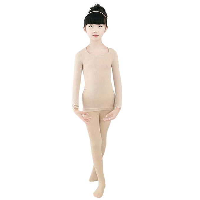 Baile Ballet Leotardos Niñas Térmicos Elásticos Gimnasia Medias Bozevon Niños Conjuntos Camisetapantimedias trxQdhsC